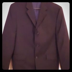 Mens Navy Calvin Klein Suit